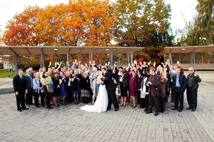 Celebration Pavilion Vancouver Wedding group photo
