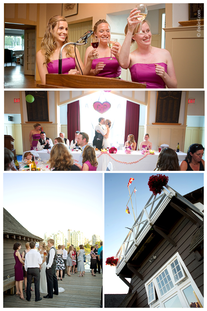 Wedding at the Vancouver Rowing Club, Stanley Park