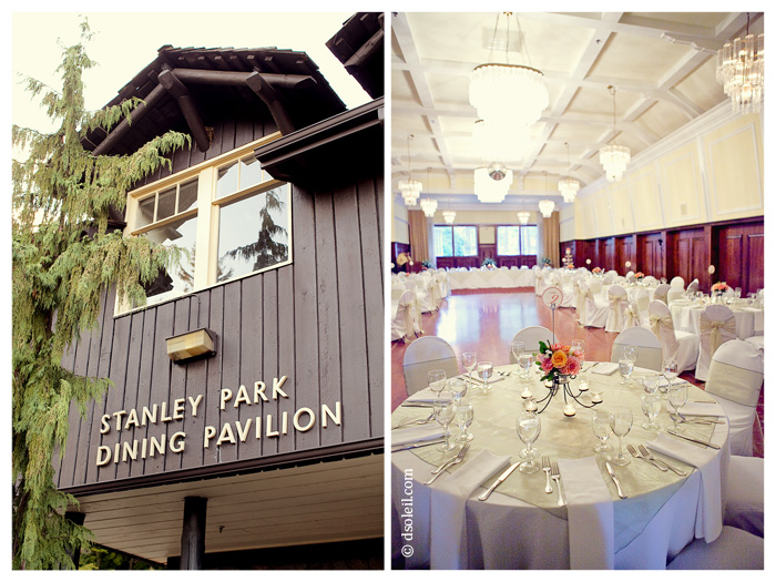 The Stanely Park Pavilion - photo by Vancouver wedding photographers, d'Soleil Studios