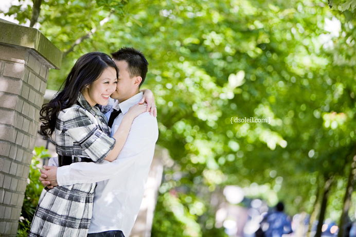 Engagement session in downtown Vancouver