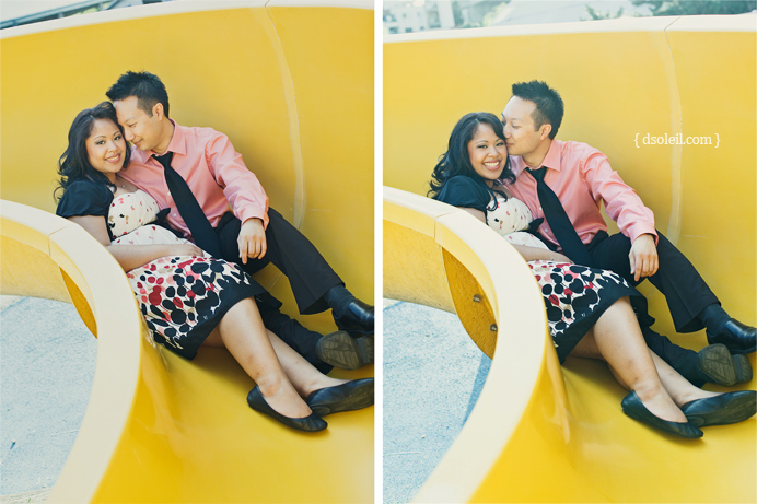 Engagement photo session at Granville Island Vancouver
