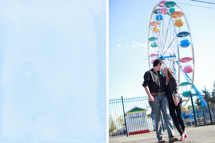 Ferris Wheel behind Sarah and Marin