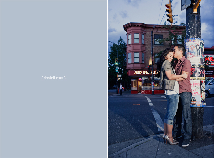 East Vancouver engagement session on Commercial Drive
