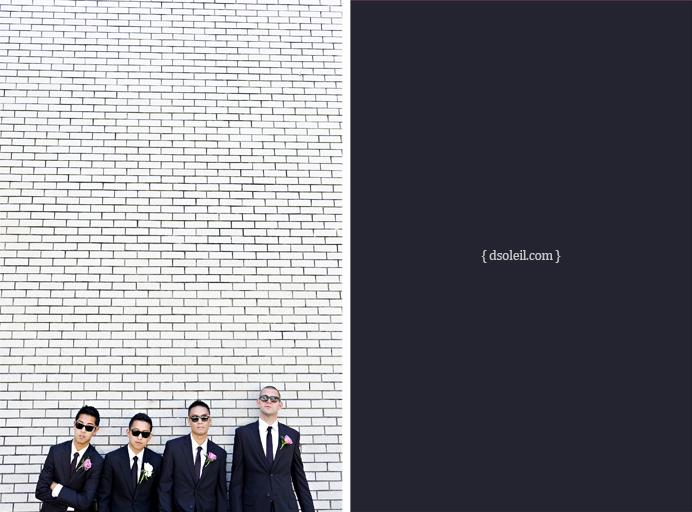 Jan and his groomsmen | Cecil Green wedding