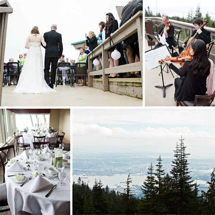 Grouse Mountain wedding ceremony and reception venue