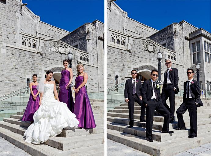 Photos of the wedding party
