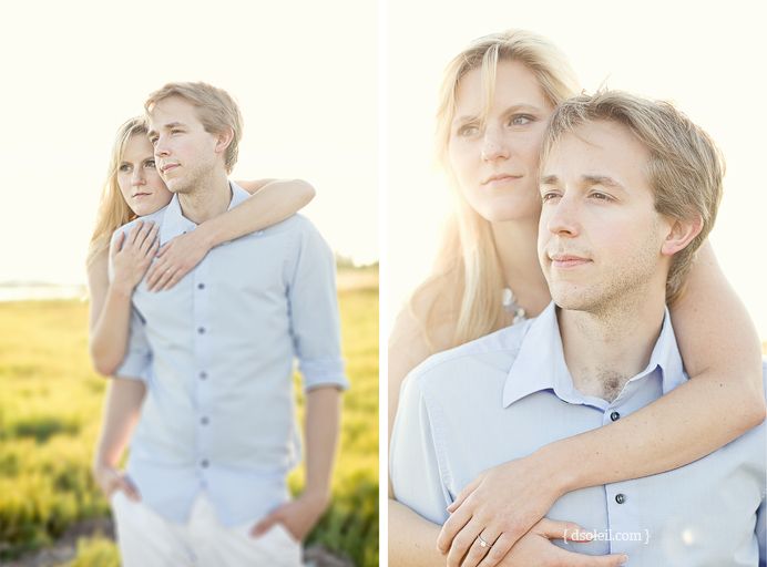 Engagement session at the bay