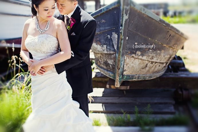 Bride and Groom in Steveston
