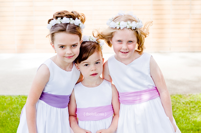 Flower girls at the Croatian Cultural Centre wedding