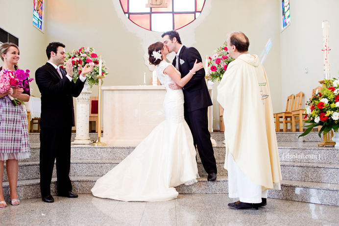 First kiss at Immaculate Heart of Mary Parish