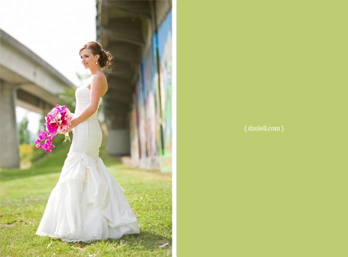 bridal portrait in East Vancouver