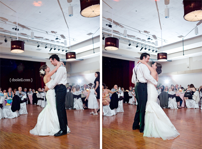First dance at the Croatian Cultural Centre Wedding in Vancouver