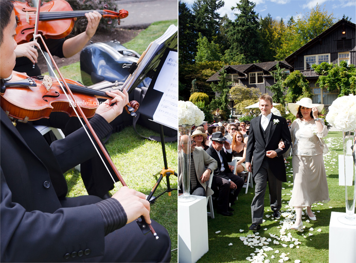 Outdoor wedding ceremony in Vancouver
