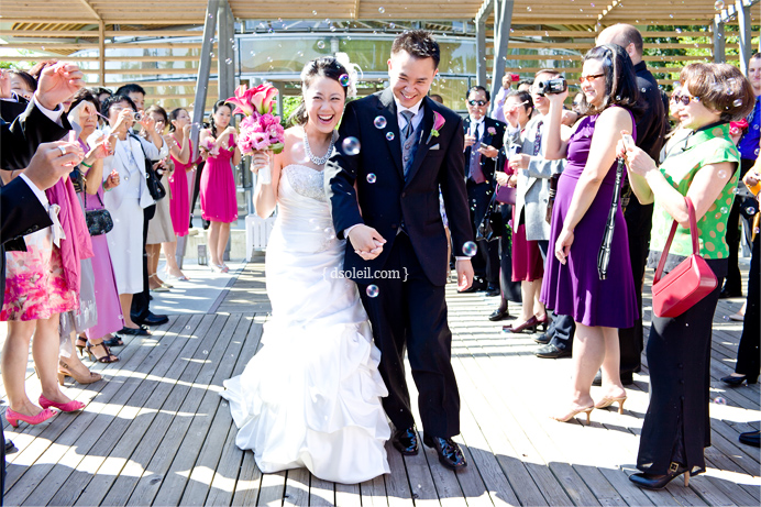 Wedding recessional at Celebration Pavilion