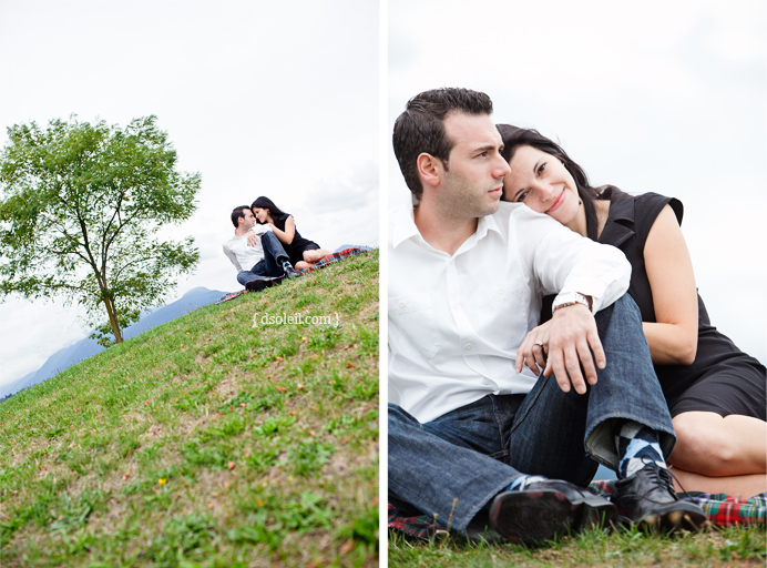Engagement session in Vancouver's Burrard Inlet