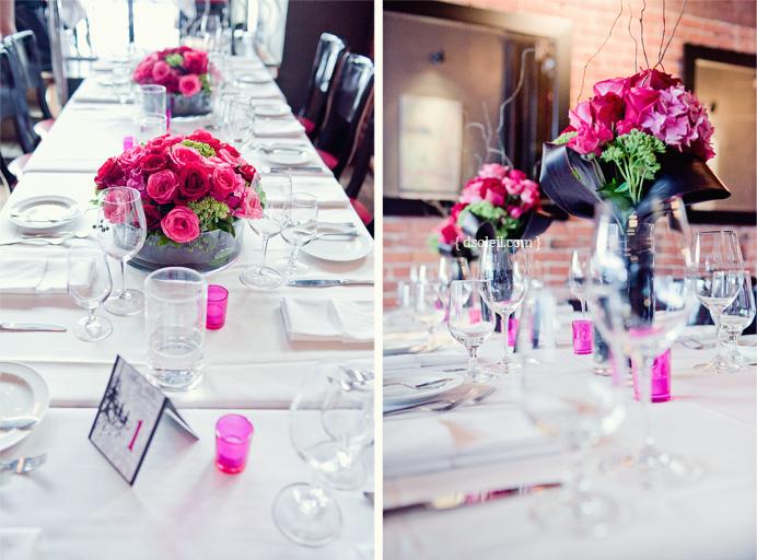 Brix Restaurant Wedding decorations and design