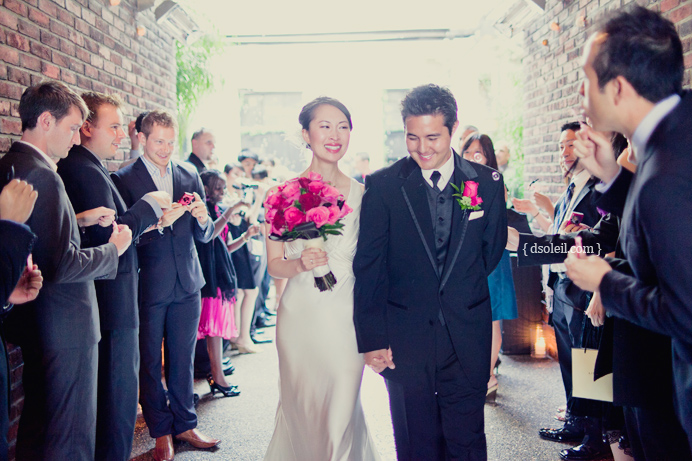 Brix Restaurant wedding recessional
