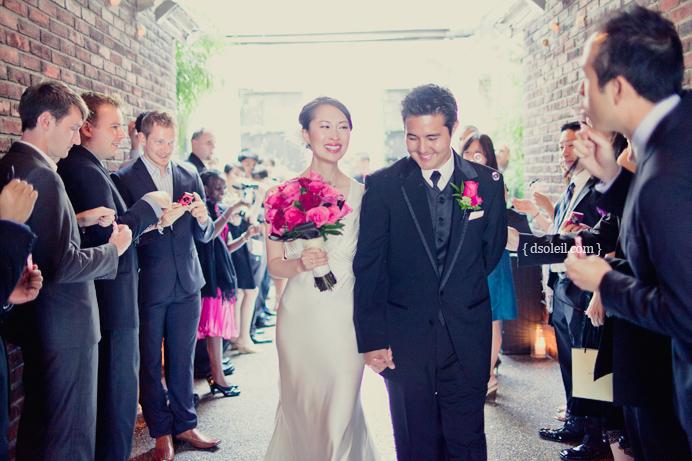 Brix Restaurant wedding recessional
