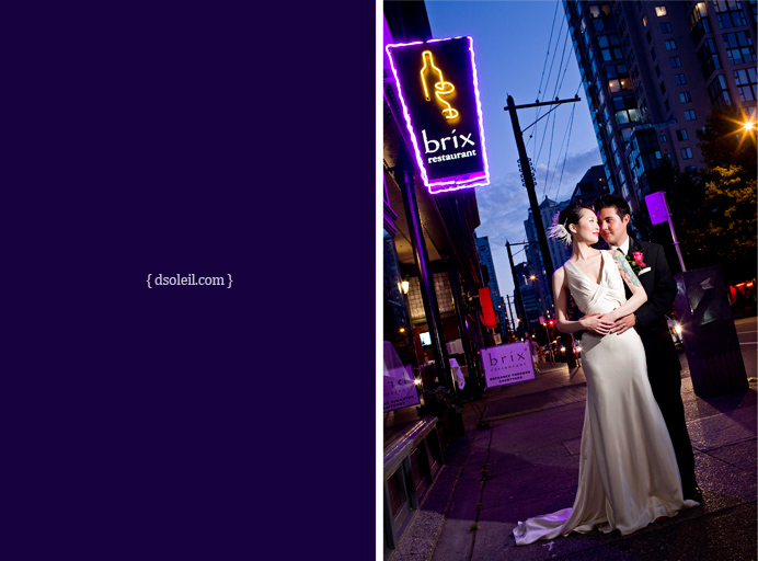 Brix Restaurant wedding photo