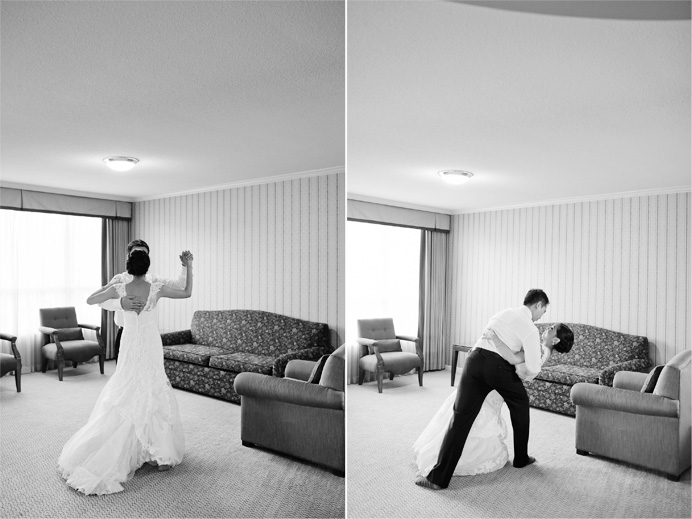 Marriott Pinnacle Vancouver wedding photos