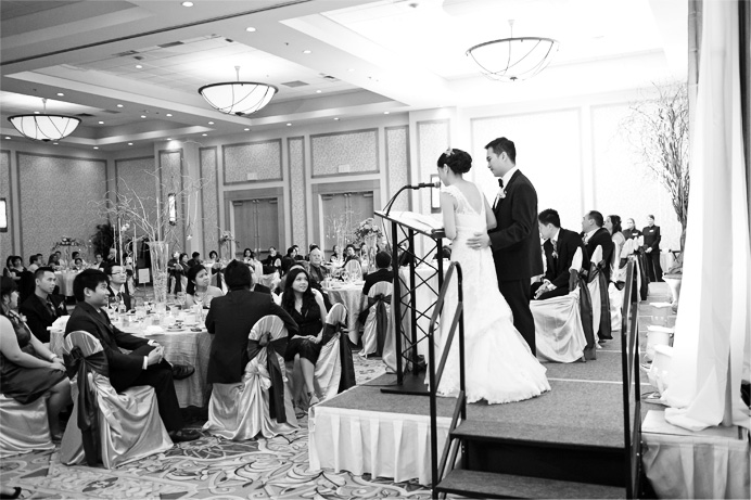 Speeches at Marriott Pinnacle Vancouver wedding