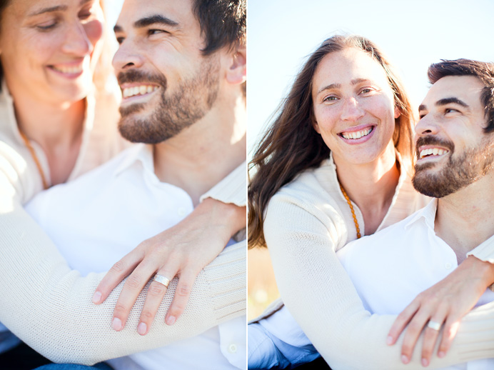 Sanya and Murray in a fun embrace during their engagement session