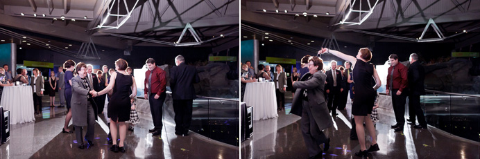 Vancouver Aquarium wedding dancing