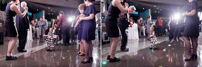 Vancouver Aquarium wedding dancing