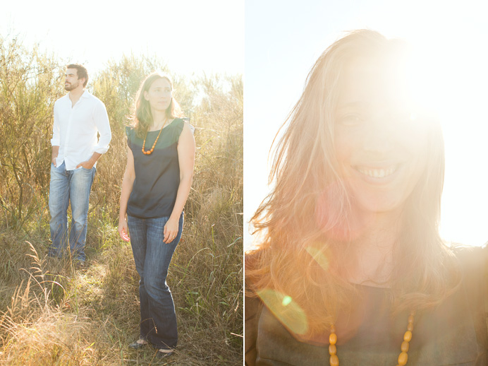 Sun flare during our engagement photo session