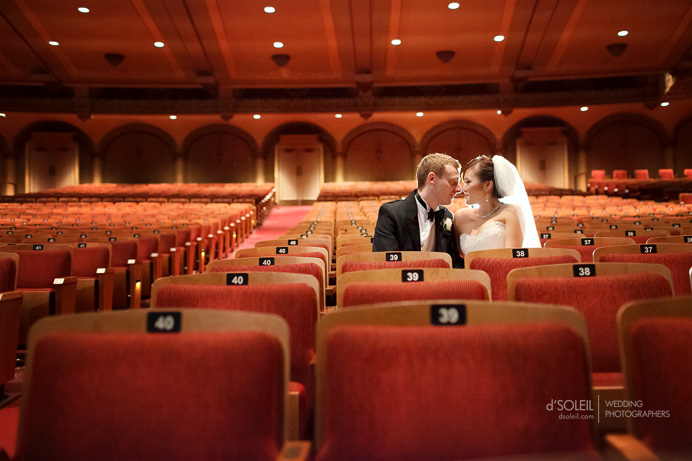 Vancouver Orpheum Theatre wedding photo