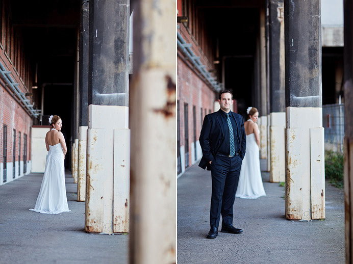 Edgy industrial wedding photos
