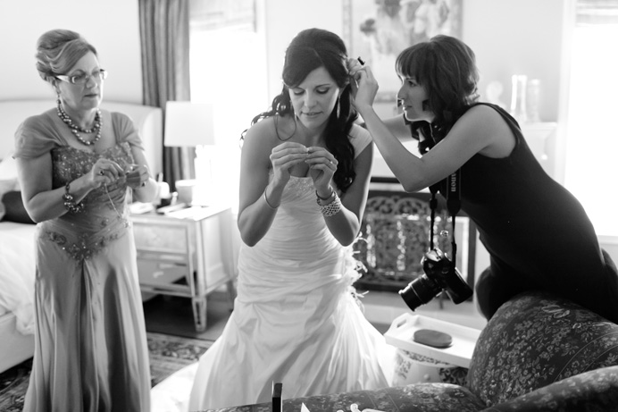 Bride getting ready before the wedding