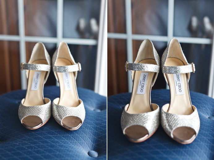 Nice Jimmy Choo shoes for her wedding