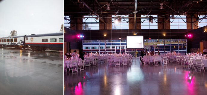 Rocky Mountaineer Train Station wedding decor design