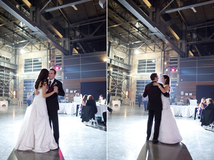 Rocky Mountaineer Train Station wedding first dance