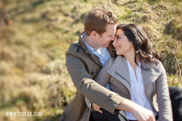 Wedding engagement couple embrace