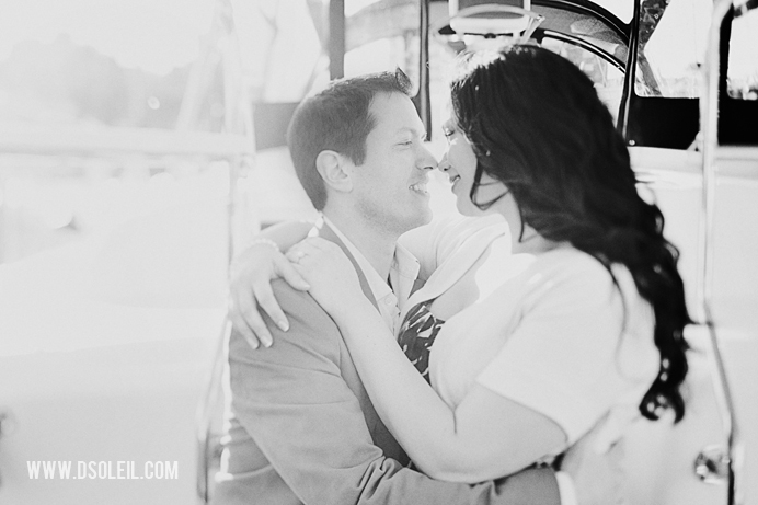 Vancouver wedding engagement photos at Granville Island