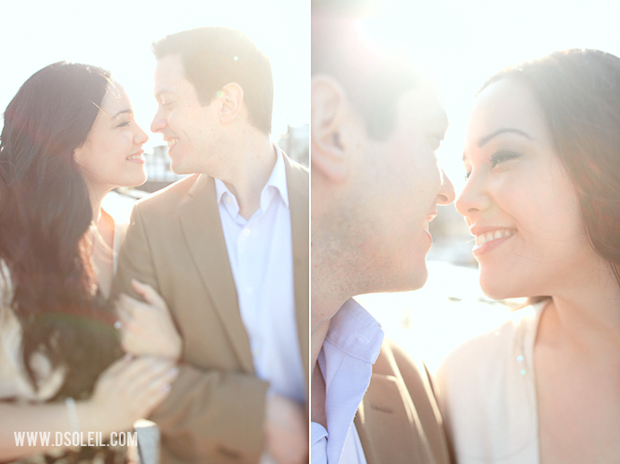 Vancouver wedding engagement photos by the marina