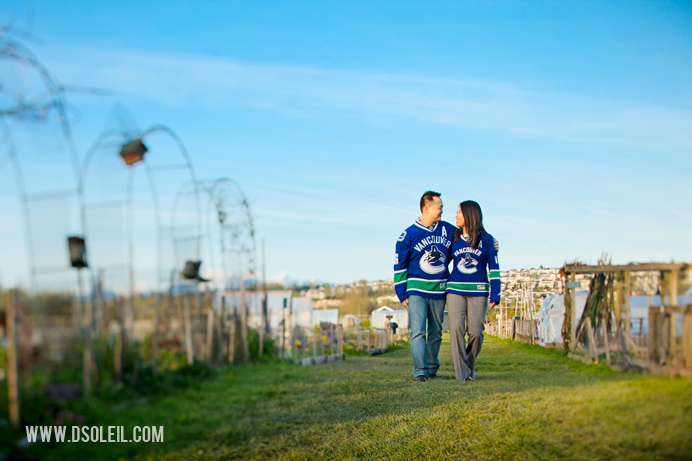 Canucks engagement session photo