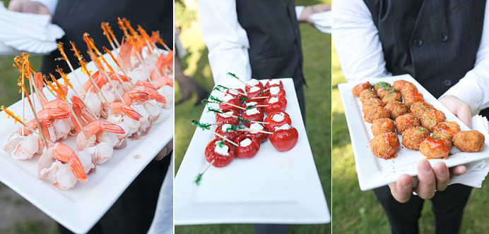 Canapes at Brock House Vancouver