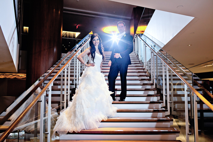 Wedding photo inside the Fairmont Pacific Rim Hotel