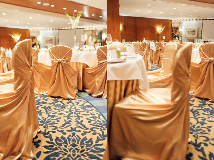 Four Seasons Hotel wedding chair covers