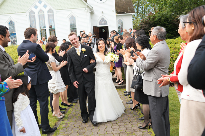Minoru Chapel wedding recessional