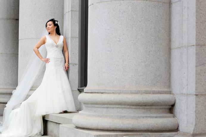 Bride portrait in Vancouver