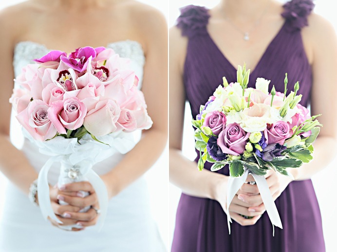 CC Roa's bridal wedding bouquet design and bridesmaid bouquet