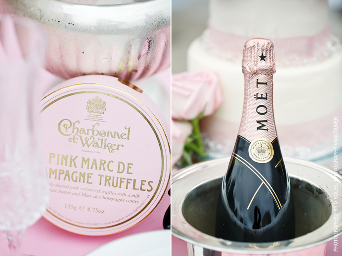 Pink Moet Champagne