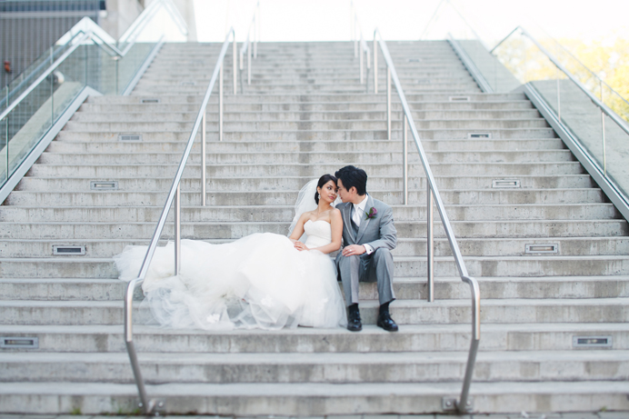 Bride and groom in Richmond, BC