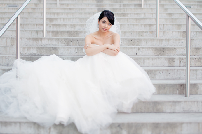 Bridal portrait Shiang Garden wedding