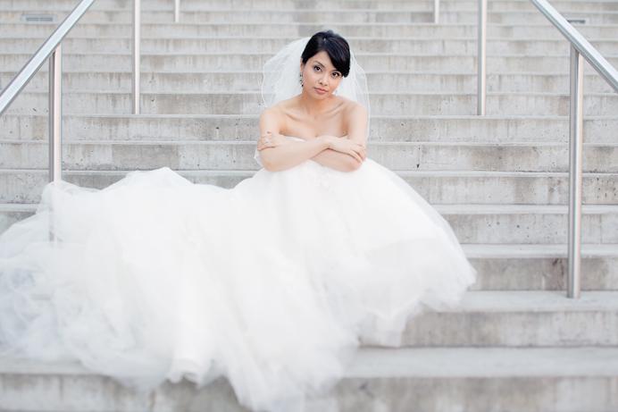 Bridal portrait Shiang Garden wedding