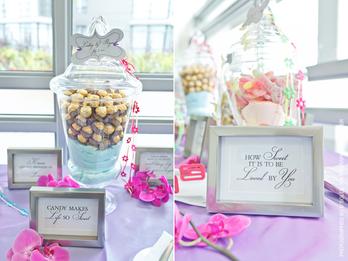 Candy table at a wedding